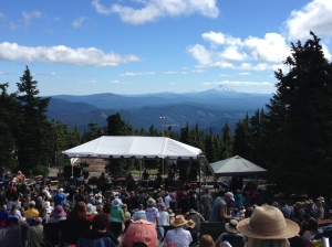 bluegrass festival on Mount Hood at Timberline Lodge