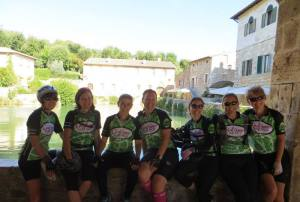 Girl picture- yes we DID bike through the Tuscan hills (aka mountains)